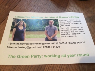 Green party postcard